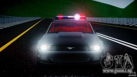 Ford Mustang V6 2010 Police v1.0 für GTA 4 Innen