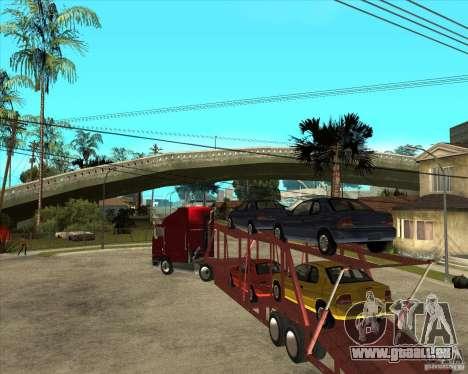 Auflieger-LKW für GTA San Andreas Innenansicht