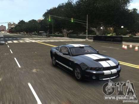 Ford Shelby GT500 2010 WIP pour GTA 4 est un droit