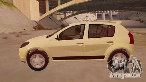 Renault Sandero für GTA San Andreas linke Ansicht