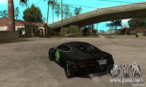 Aston Martin DB9 NFS PS Tuning pour GTA San Andreas sur la vue arrière gauche