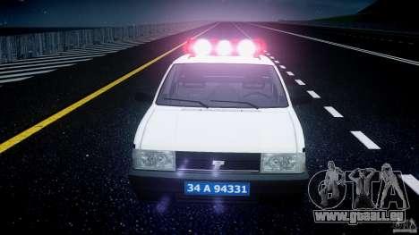 Tofas Sahin Turkish Police v1.0 pour GTA 4 vue de dessus