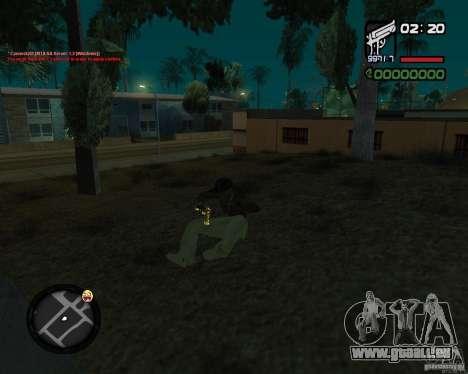 Desert Eagle GOLD pour GTA San Andreas quatrième écran