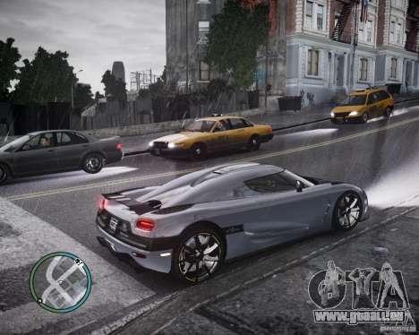 Koenigsegg Agera für GTA 4 Innenansicht