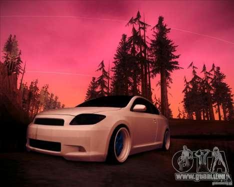 Scion tC Blue Meisters pour GTA San Andreas laissé vue