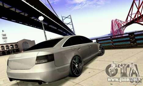 Audi A6 Blackstar pour GTA San Andreas vue de dessous