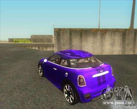 Mini Coupe 2011 Concept pour GTA San Andreas sur la vue arrière gauche