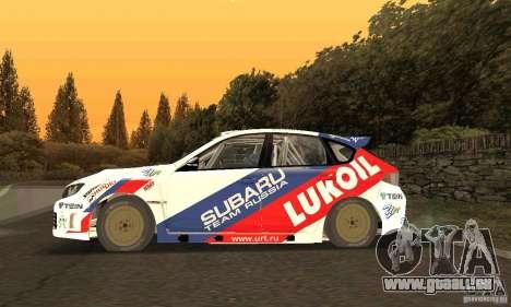 Subaru Impreza WRX STi Russia Rally pour GTA San Andreas laissé vue