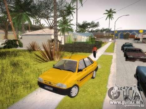 Kia Pride 131 pour GTA San Andreas sur la vue arrière gauche