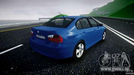 BMW 3-Series Unmarked [ELS] pour GTA 4 est une vue de l'intérieur