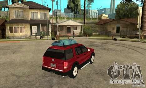 Ford Explorer 2004 pour GTA San Andreas vue de droite