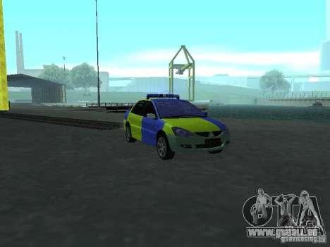 Mitsubishi Lancer-Polizei für GTA San Andreas