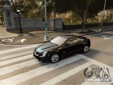 Cadillac CTS-V Coupe 2011 für GTA 4 Rückansicht