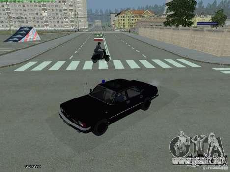 Volga fédéral pour GTA San Andreas sur la vue arrière gauche