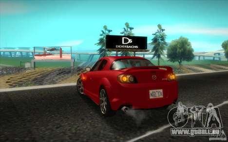 Mazda RX-8 R3 2011 für GTA San Andreas rechten Ansicht