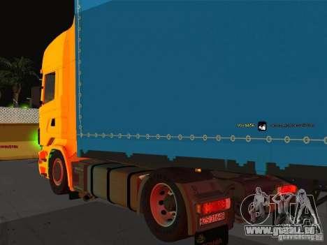Scania R620 pour GTA San Andreas sur la vue arrière gauche