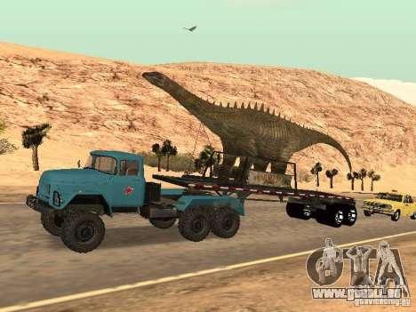 Dinosaurier-Trailer für GTA San Andreas Rückansicht