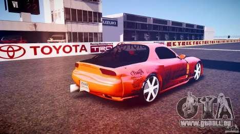 Mazda RX-7 ProStreet Style pour GTA 4 Vue arrière de la gauche