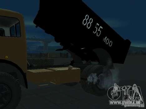 Camion à benne MAZ 503 a pour GTA San Andreas sur la vue arrière gauche