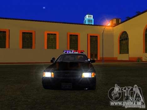 Ford Crown Victoria San Andreas State Patrol pour GTA San Andreas vue de côté