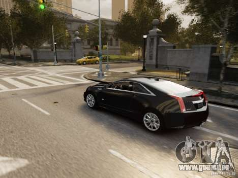 Cadillac CTS-V Coupe 2011 für GTA 4 Seitenansicht