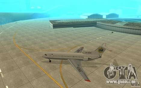 Jak-42D von Lemberg (Ukraine) für GTA San Andreas zurück linke Ansicht