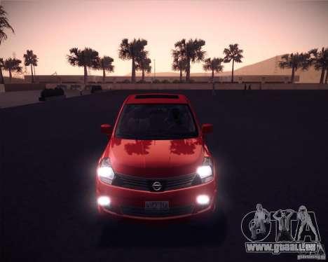Nissan Versa Stock pour GTA San Andreas laissé vue