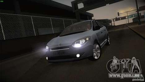 Renault Fluence pour GTA San Andreas vue de côté