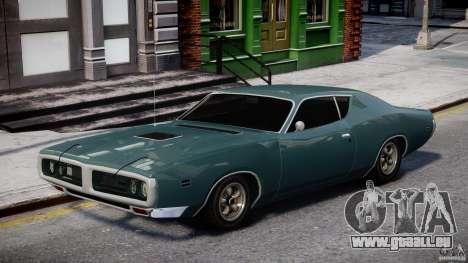 Dodge Charger RT 1971 v1.0 für GTA 4 Rückansicht