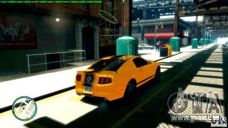 Shelby GT500 Super Snake 2011 pour GTA 4 est une gauche