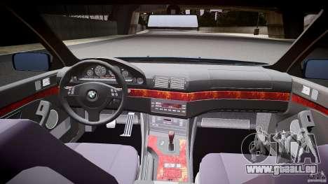 BMW 530I E39 e63 white wheels für GTA 4 Rückansicht