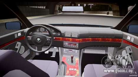 BMW 530I E39 e63 white wheels pour GTA 4 Vue arrière