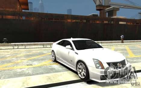Cadillac CTS-V Coupe 2011 v.2.0 pour GTA 4 Vue arrière