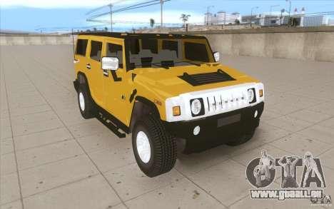 Hummer H2 für GTA San Andreas Rückansicht