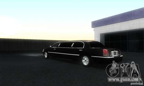 Lincoln Towncar limo 2003 für GTA San Andreas zurück linke Ansicht