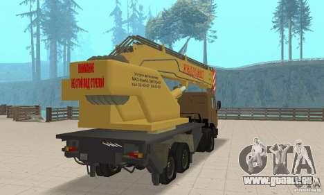 KAMAZ 53213 COP 4572 pour GTA San Andreas laissé vue
