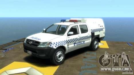 Toyota Hilux Australian Police ELS pour GTA 4