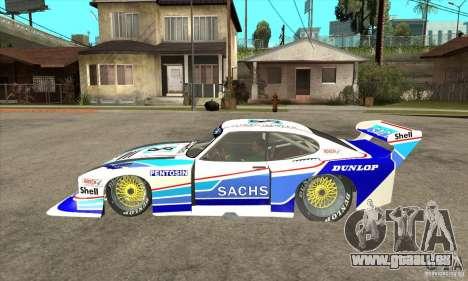 Ford Zakspeed Capri Mk3 (1978-1983) pour GTA San Andreas laissé vue