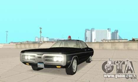 Plymouth Fury III Police für GTA San Andreas