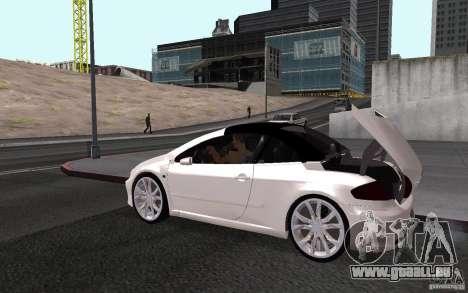 Peugeot 307CC BMS pour GTA San Andreas vue de droite