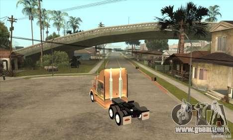 Peterbilt 387 peau 3 pour GTA San Andreas vue de droite