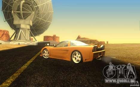 Honda NSX VeilSide Fortune pour GTA San Andreas vue intérieure