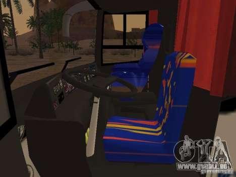 Marcopolo Paradiso 1800 G6 8x2 SCANIA pour GTA San Andreas vue intérieure