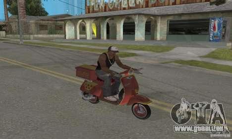 Vespa N-50 Pizzaboy pour GTA San Andreas vue arrière