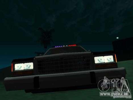 Ford Crown Victoria LTD 1992 SFPD pour GTA San Andreas laissé vue