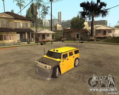 Hummer H2 für GTA San Andreas linke Ansicht
