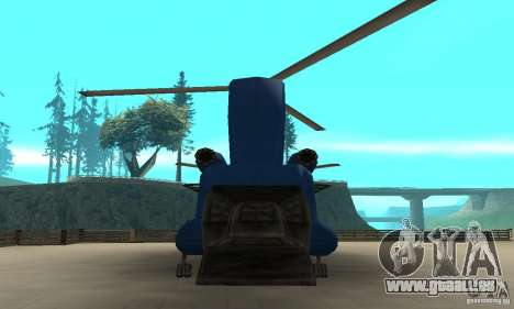 CH-47 Chinook ver 1.2 pour GTA San Andreas vue de droite