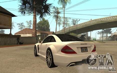 Mercedes-Benz SL65 AMG BS pour GTA San Andreas sur la vue arrière gauche