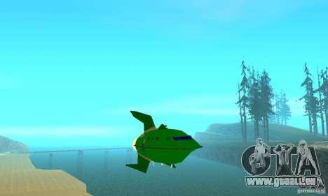 Planet Express für GTA San Andreas Rückansicht