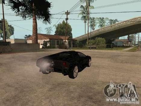 GTA4 Infernus für GTA San Andreas zurück linke Ansicht